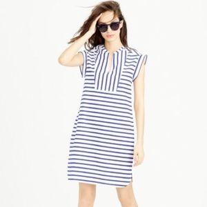 J. Crew blue and white stripe cotton shift dress